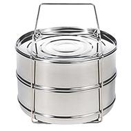 [MECETE] Stackable Steamer Insert Pans for Instant Pot Accessories - Fits Instant Pot 5,6,8 qt Press
