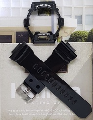 Genuine Casio G Shock Glossy Black Straps and Bezel for GR8900 GR8900A or GWX8900B