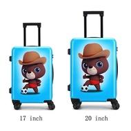 ใหม่20นิ้วการ์ตูนหมีเด็กกระเป๋าเดินทางสำหรับเดินทางกระเป๋าเดินทาง Spinner ล้อกระเป๋าเดินทางแบบลากพกพากระเป๋าเดินทางเด็ก
