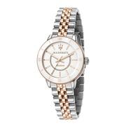 MASERATI 瑪莎拉蒂 SUCCESSO LADY 光動能玫瑰金質感腕錶32mm(R8853145504)