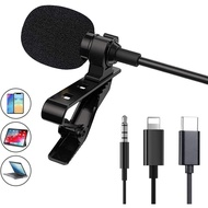Lapel microphone recording microphone iPhone SLR vlog video teaching voice microphone broadcast live to eat