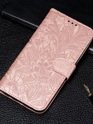case for google google pixel 3 / google pixel 3 xl / google pixel 3a xl wallet / card holder / with stand full body cases flower hard pu leather