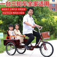 Ruifukang Elderly Tricycle Elderly Pedal Small Bicycle Adult Bicycle Foldable Human Scooter