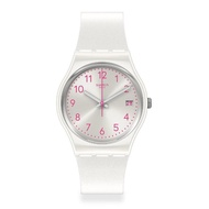 【SWATCH】Essentials系列手錶 PEARLAZING 珍珠白(34mm)