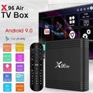 ใหม่ล่าสุด 2020 Smart Android TV Box  Amlogic S905X3 Android 9.0 ทีวีกล่อง X96 Air 4GB RAM 64GB ROM Quad Core 2.4G และ 5G Dual WiFi 4K Media Player X96Air