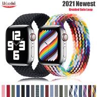 Braided Solo Loop สำหรับสายคาด Apple Watch 44มม.40มม.IWatch 38Mm-42Mm ผ้าสร้อยข้อมือ Applewatch Series 6 5 4 3 SE