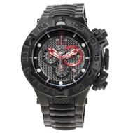 INVICTA龍五系列-紅點設計殊榮三眼計時腕錶(黑)