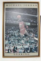 空中飛人 Michael Jordan - 麥克 喬丹 -最後之舞 海報 - 畫框. 布框 - 灌籃大賽