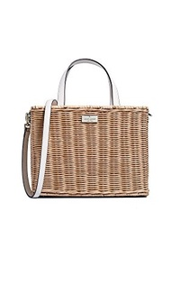 [KATE SPADE NEW YORK] Women s Straw Sam Tote Bag