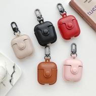 耳機保護套 蘋果Airpods2保護套皮質二代airpods Pro皮套3代藍芽無線耳機盒子airpods1皮套防丟繩防塵貼ins潮『LM825』