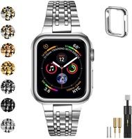 [2美國直購] MioHHR 不銹鋼  38/40mm 適用Apple Watch Series SE Series 6/5/4/3/2/1 型 黑/玫瑰金/灰/銀
