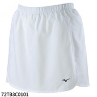 MIZUNO 女裝 褲裙 羽球 手球 鬆緊 刺繡LOGO 內裡褲 透氣 白【運動世界】72TB8C0101