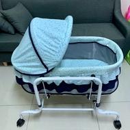 電動搖床 電動水平搖床 電動安撫床 嬰兒搖床