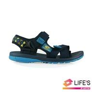 LOTTO樂得義大利第一品牌 大童流行織帶涼鞋 [0266] 丈青【巷子屋】