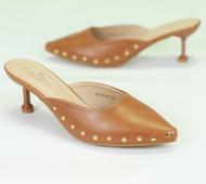 """รองเท้า 9717-3 รองเท้าคัชชูเปิดสส้นสูง 2.5"""" รองเท้าคัชชูหัวแหลม เปิดส้น หนังนิ่มแฟชั่น"""