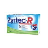 Zyrtec-R Tablets 10's *Effectively relief running nose, water and itchy eyes and allergy reaction*
