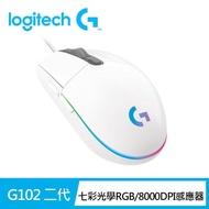 【Logitech G】G102 炫彩遊戲滑鼠(白)