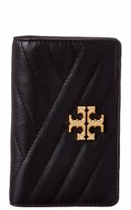 Tory Burch Womens  Kira Medium Chevron Leather Slim Wallet