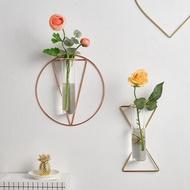 【xww】北歐ins貼墻綠植創意水培玻璃瓶試管掛墻花瓶裝飾品墻上壁掛花盆
