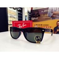 RayBan 雷朋 經典G15墨綠色鏡片黑色太陽眼鏡 RB2132F 901 58 義大利製 旭日公司貨