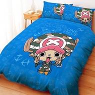 (免運費/現貨)正版授權台灣製卡通寢飾/床組【One Piece航海王/海賊王-喬巴GOGOGO】單人床包組/雙人床包枕套組/被套/被單/兩用被/鋪棉被套(可當涼被)/枕頭套