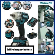 Makita Battery DTW285 18V Impact Wrench Brushless Cordless Electric Wrench Power Tool 520N.m Torque Rechargeable