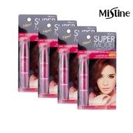 【Mistine】Mistine SUPER MODEL 4D 二合一纖長濃密雙頭睫毛膏4入(贈三色修容盤1個)