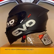 EVO HELMETS  GSX-3000 MATTE BLACK FULL FACE DUAL VISOR FREE LENS LIMITED STOCKS