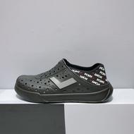 PONY ENJOY 男女款 黑色 後跟可踩 防水 水鞋 洞洞鞋 02U1SA05BK