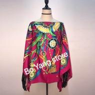 Oversize Thailand Holiday Summer Beach Kaftan Silk Top Dresses Batwing Sleeve Dashiki African Women's Silk Top Dress