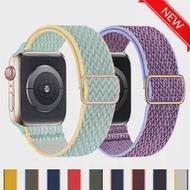 ไนลอนสำหรับ Apple Watch Band 40มม.44มม.38มม.42มม.44มม.ปรับกีฬายืดหยุ่น Solo สร้อยข้อมือ IWatch Series 3 4 5 6 Se