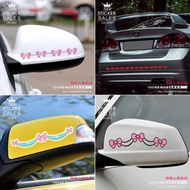Rearview Mirror Stickers Cartoon Bow Mirror Decorative Stickers