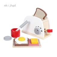 เด็กจำลองไม้เครื่องทำขนมปังกาแฟที่ทำแพนเค้กMakerผสมผสมBoyและสาวห้องครัวบ้านของเล่นของเล่น