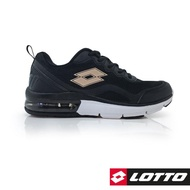 【LOTTO】女 FLUX 避震氣墊跑鞋(黑-LT9AWR0070)