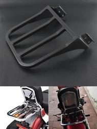 รถจักรยานยนต์ Sissy Bar พนักพิงกระเป๋าเดินทางสำหรับ Harley Sportster XL 04-17 Dyna 06-17 Softail 84- 05 FLST FLSTC FLSTSC 06-17