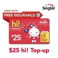 Singtel $25 hi! Top-up