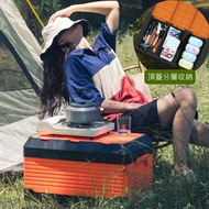 Mr.Box【009035】露營桌椅折疊收納箱 兩種尺寸可選 (橘黑色)