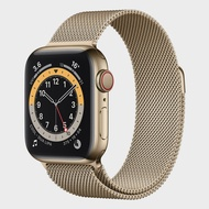 APPLE Watch Series 6 GPS + Cellular (40mm, Gold Aluminum Case, Gold Milanese Loop Band)