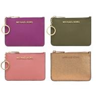 MICHAEL KORS MK 十字紋防刮真皮皮革 鑰匙零錢包 卡片夾 零錢包 悠遊卡夾 證件卡夾 手拿包