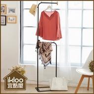 【ikloo】無印風簡約掛衣架/吊衣架-白/黑/掛衣架/吊衣架/曬衣架/衣架