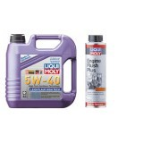 Liqui Moly Fully Synthetic Leichtlauf  5W-40 + Engine Flush Plus