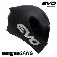 EVO GSX 3000 Matte Black & Turquoise Blue & Valiant Full Face Helmet
