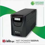 Riello UPS NPW1500 | Net Power 1500VA | UPS BATTERY BACKUP ~ LINE INTERACTIVE ~ AVR ~ SINEWAVE ~ GAMER ~ PC ~ FISH TANK ~ 2 YEARS LOCAL WARRANTY & SUPPORT