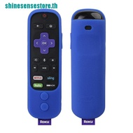 【SHINE】Silicone Protective Cover for Roku Ultra with Power Button Enhance Remote Cover