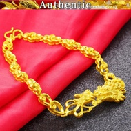 916 gold dragon and phoenix bracelet