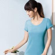 【華歌爾】PH5.5 酸鹼平衡除臭纖維健康蘭姿-短袖素面款(都會藍)