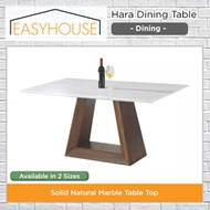 Hara Dining Table | Dining | Solid Natural Marble Table Top | Available in 2 Sizes