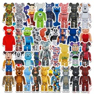 50Pcs/Set ❉ Bearbrick Stickers ❉ Cartoon Character Cosplay DIY Fashion Mixed Waterproof Doodle Decals Stickers