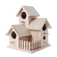 บ้านนกไม้สร้างสรรค์กล่องกรงเพาะพันธุ์ไม้,รั้วจำลองบ้านนกสำหรับตกแต่งสวนหลังบ้าน P82D