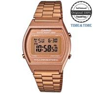 Time&Time CASIO Standard นาฬิกาข้อมือ สีพิงค์โกล สายสแตนเลส รุ่น B640WC-5ADF